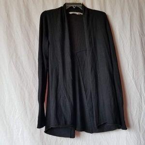 Athleta black open front long cardigan size medium